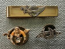 Lot of 3 Vintage Pieces of Shriner Jewelry -Tie Clip and Lapel Pins
