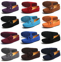 Boys Mens Loafers Gommini Driving Faux Suede Casual Slip On Moccasin Shoes Size