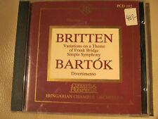 Hungarian Chamber Orchestra : Britten Bartok - audiophile CD von Premier Records