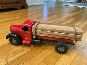 Vintage 1950's Smith Miller Mack Log Truck W/ Pup Trailer Nice