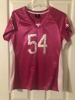Brian Urlacher #54 Chicago Bears NFL Pink Jersey Womens M Medium