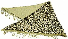 Algodón pesado camuflaje impreso Triangular Bufanda con ribete de encaje de ganchillo, LA038