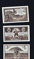 3x Notgeld Gutschein Stadt KAHLA 25, 50, 75 Pfennig Sprüche 1921 numeriert