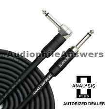 Analysis Plus Black Oval Instrument Cable Straight to 90 Standard Plugs 10ft