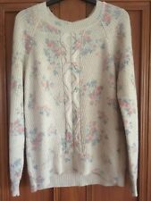 Monsoon Floral Knitted Jumper Size M 12