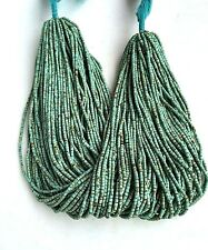 5 Strand of Afghan Natural Tiny Seed Beads Turquoise 1-2mm 13 inches Jewelry