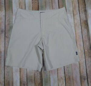 """Patagonia Duway Shorts Size 10 Tan Hike Camp 8"""" Inseam Lightweight Packable"""