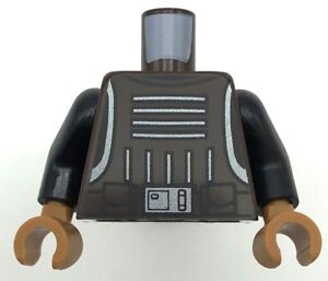 Lego New Dark Brown Torso Star Wars Vest with Body Armor with 4 Straps Buckles