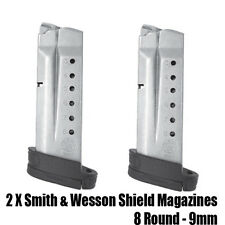 2 Pack Smith & Wesson Shield Magazines 9MM 8 Round OEM S&W M&P MP SW
