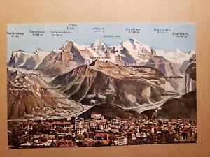 Vintage Postcard - Bernese Highlands 1960s - Interlaken
