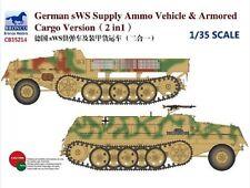 Bronco 1/35 35214 German sWS Supply Ammo Vehicle & Armored Cargo Version