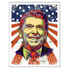 "Ronald Reagan Conservative Political 11x14"" Art Print Poster Artist Signed"