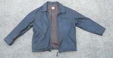 ROOTS CANADA black Leather jacket Coat size Medium M