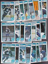 1982 - 83 OPC Team SET Lot of 23 Toronto MAPLE LEAFS NM+ o-pee-chee VAIVE Bunny