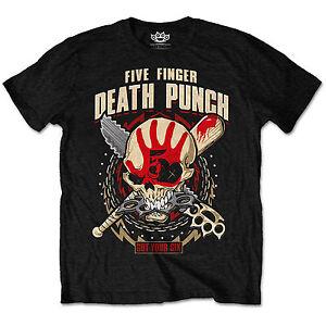 FIVE FINGER DEATH PUNCH Howe Eagle Crest Mens T Shirt Unisex Tee Official Merch