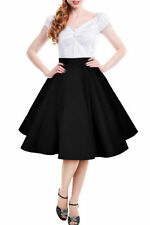 Party Patternless Plus Size Flippy, Full Skirts for Women