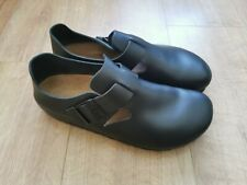 New Birkenstock Leather London shoes sandals size 8 narrow fit black rpp £115.00