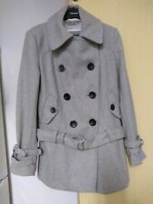 River Island  Grey Coat With Belt  Size  10 Ladies Womens Lovely Coat