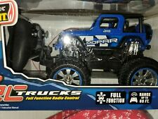 New Bright RC Motor Sport Mopar Jeep Wrangler, Blue Remote Radio Control Truck