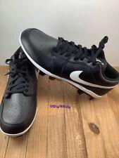 Nike Air Jordan 1 Retro MCS Low Black Baseball Cleats men's size 12 (CJ8524-001)