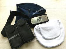 4pcs/set Anime NARUTO Weapon bag&Face Mask&Headband COSPLAY for Hatake Kakashi