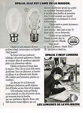 PUBLICITE  1974   MAZDA   AMPOULES  OPALIA 2