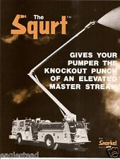 Fire Equipment Brochure - Snorkel - The Squrt - 54 ft Water Tower c1985 (DB97)