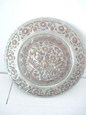 Piatto Decorativo in Rame Sbalzato e lavorato a mano