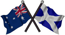 Scottish Australia Flag Vinyl Decal Gloss Laminated Contour Cut 170mm by 91mm