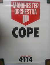 Music Poster Promo Manchester Orchestra ~ Cope - White Version