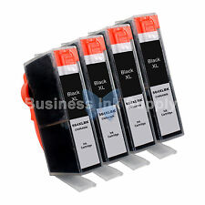 4 BLACK 564XL 564XL GENERIC W/CHIP HIGH YIELD + INK LEVEL 564XL for HP Printers