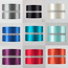 Diamante Non-Electric Fabric Cotton Drum Shades Table or Floor Lamp Light Shade