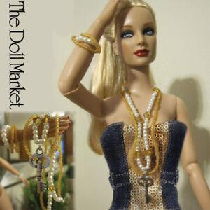 "New - Fashion Doll Jewelry Vintage Dream Necklace & Bracelet Set -fits 16"" dolls"