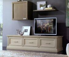 MOBILE BASE PORTA TV PLASMA IN LEGNO LACCATO 3 CASSETTONI x SALA SOGGIORNO 3054