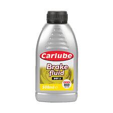 Carlube Brake & Clutch Fluid Oil DOT 3 Braking System Synthetic 500ml