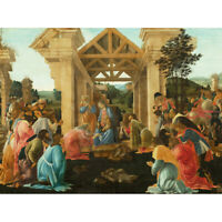 Sandro Botticelli The Adoration Of The Magi Canvas Art Print Poster