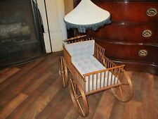 SERVANT'S Handcrafted Doll Carriage/Crib Limited Edition VERY RARE COLLECTIBLE
