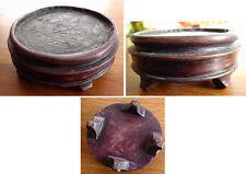 Socle en bois pour statue ou vase potiche Chine Japon ancien