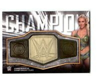 WWE Charlotte 2018 Topps Raw Women's Title Belt Plate Relic Card SN 121 of 199