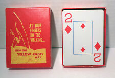 Vintage Yellow Pages Playing Cards!