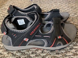 Merrell Panther Performance Leather Sport Sandals Size 4 Boys Select Fresh