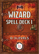 Wizard Spell Deck I (0th - 3rd) DnD Dungeons Dragons RPG