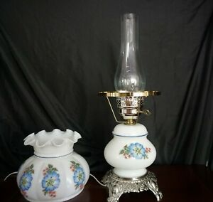 Vintage Globe Hurricane Electric Table Lamp Replica