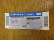 23/03/2013 Ticket: Portsmouth v Coventry City  . Thanks for viewing this item, w