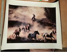 """THE LAST ROUNDUP- DON SCHIMMEL Western Photograph Poster Print 1993 27X34"""" Horse"""