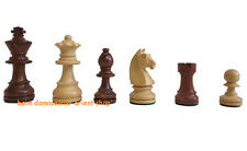 Wooden chess pieces men chessmen chesspieces set King 7 cm Holz Schachfiguren
