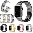 Stainless Steel Wrist Bracelet Clasp iWatch Band for Apple Watch 3/2/1 38mm 42mm