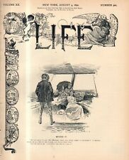 1892 Life August 4 - Frick is shot; Homestead strike; Yale class of 1853 is best