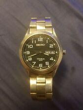 Vintage Seiko Titanium 50M #7N48-0AB0 Day/Date Quartz Men's Watch