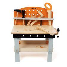 Kinderwerkbank Werkzeugbank Werktisch mit Werkzeug Spielzeug aus Holz by Kledio